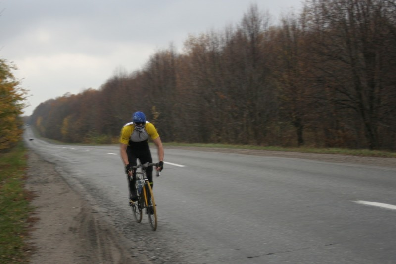 Суровый велосипедист Серж