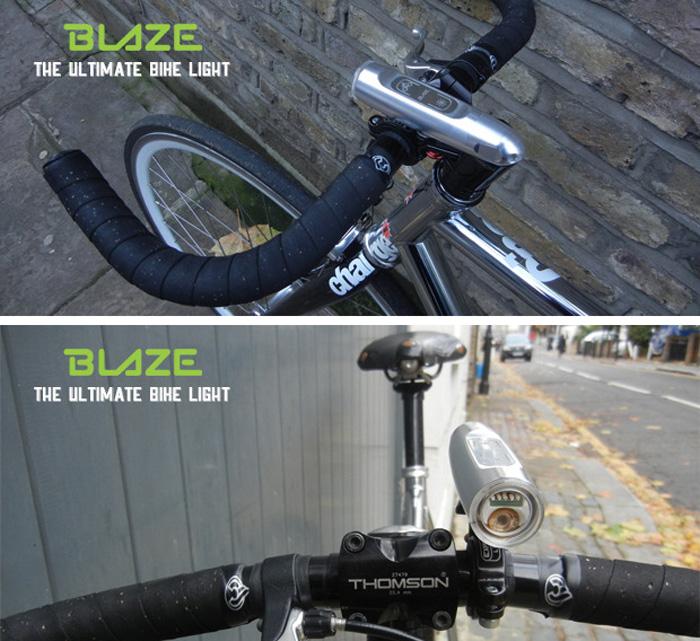 велофара с лазерными габаритами