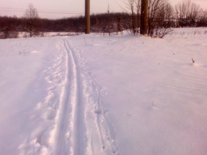Ладыжин, лыжня