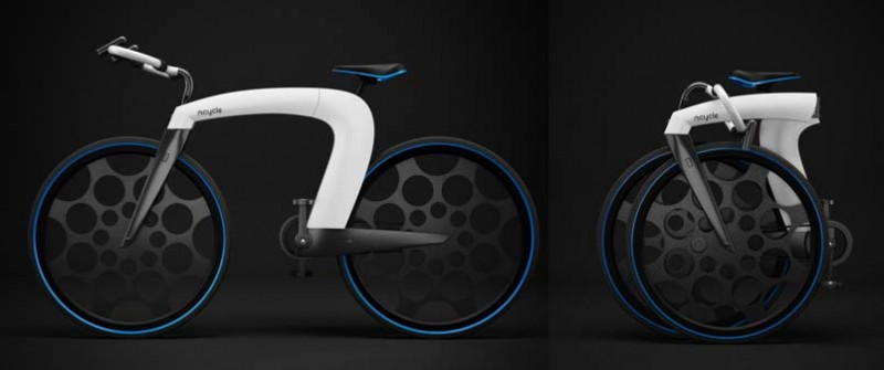 Эпичный складной електровелосипед NCycle от дезайнеров Skyrill and Marin Myftiu