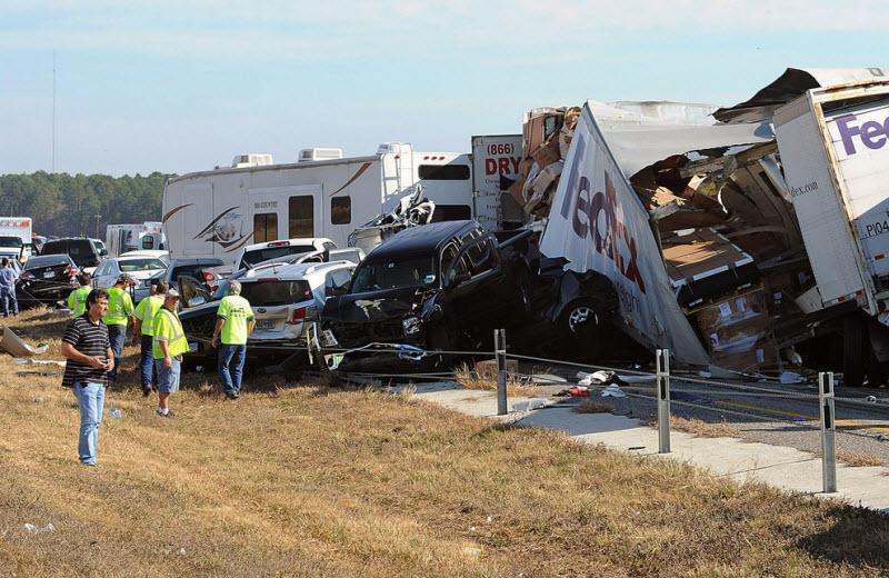 автомобильная авария 140 автомобилей