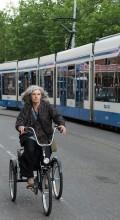 На велосипеде в Амстердаме