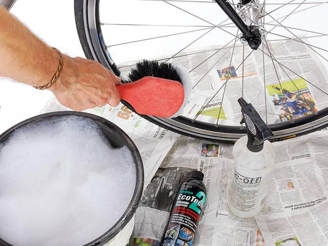 чистка  велосипеда