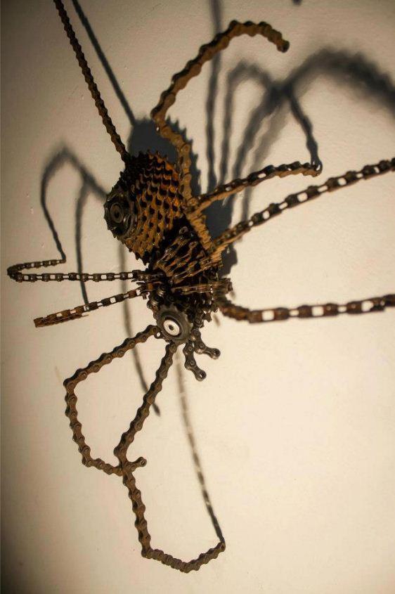 паук из велосипедной цепи