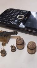 Американский Бриг пушка, ведра, бочки, телефон
