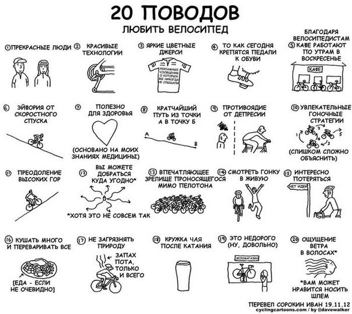 20 поводов любить велосипед