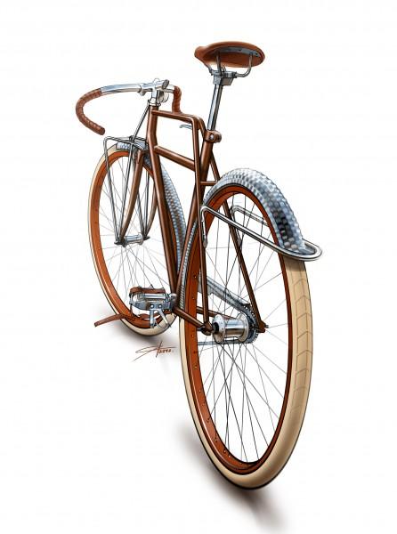 твидовый велосипед