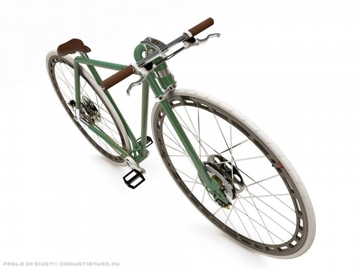 """Велосипед с 36"""" колесами и интересной рамой от Паоло де Гиусти — XXXVI GD Concept Bike"""