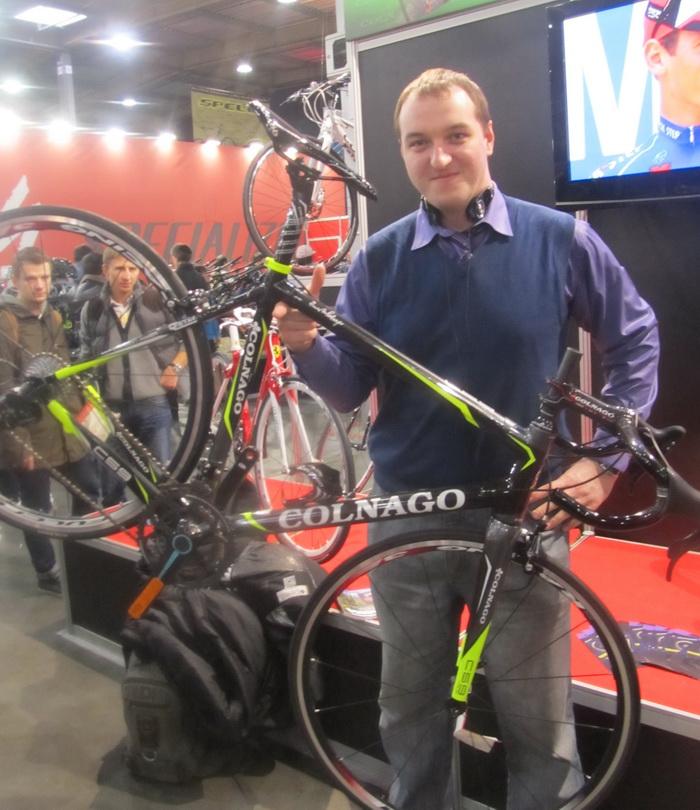 Юра и велосипед Colnago
