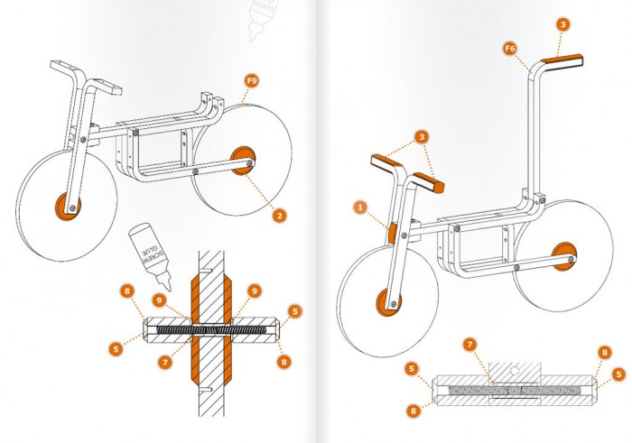 велосипед из дерева IKEA bike