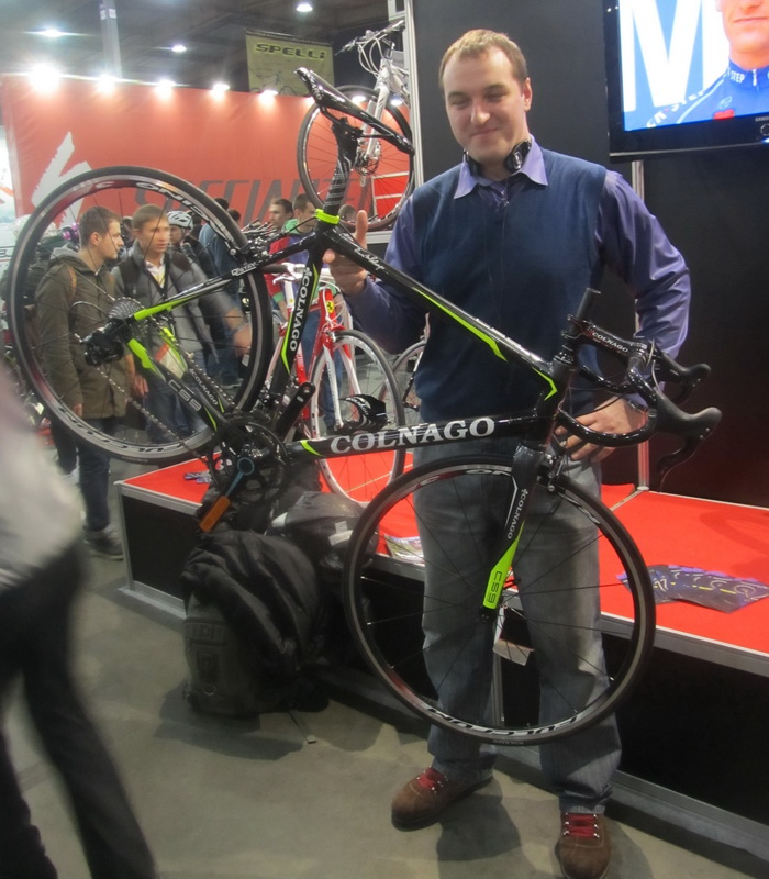 Юра и велосипед Колнаго