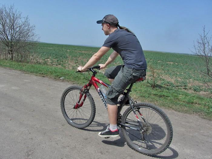 Велосипедист Иван