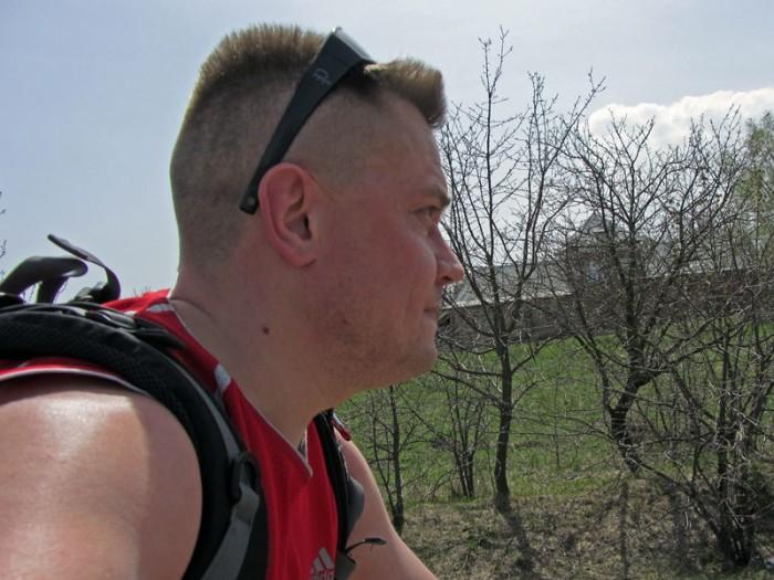 велосиепедист Андрей. Хмельницкий