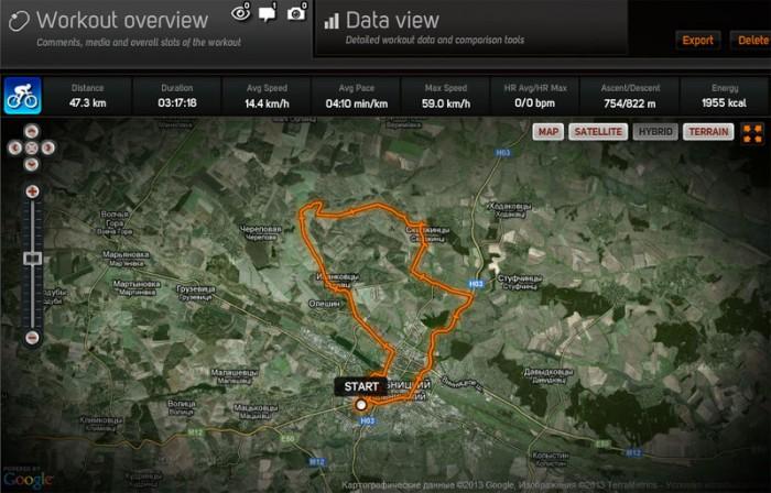 подробности этого маршрута  track