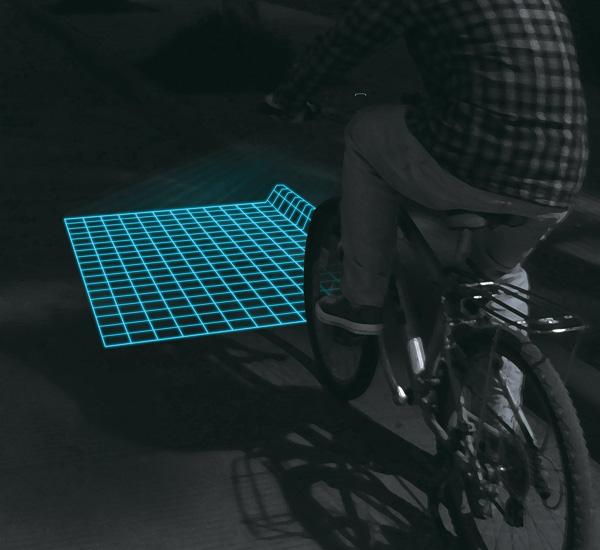 Lumigrids - светодиодный проектор для велосипеда