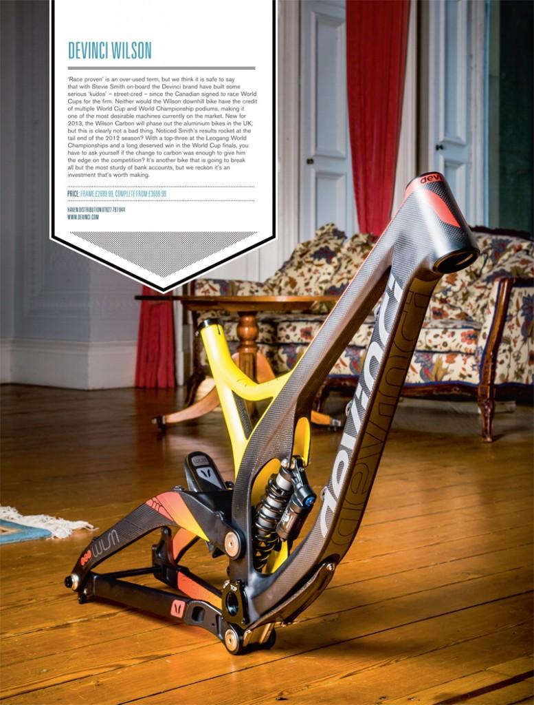 Велосипедная рама для ДХ от компании DEVINCI  wilson carbon