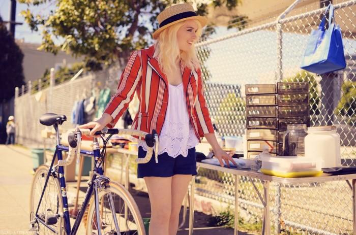 Alicia Oblander и ее велосипед