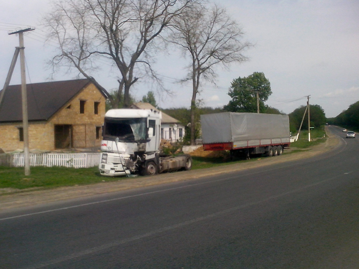 авария, грузовик