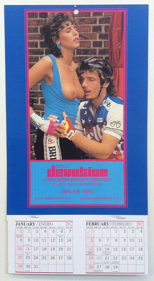 велосипедист календарь