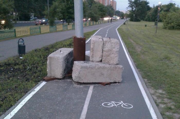 Московские велодорожки суровые