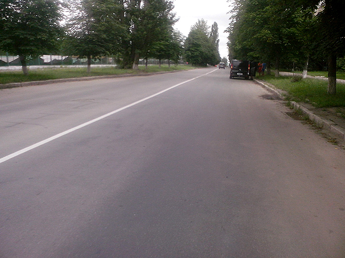 Винница, дорога на велосипеде