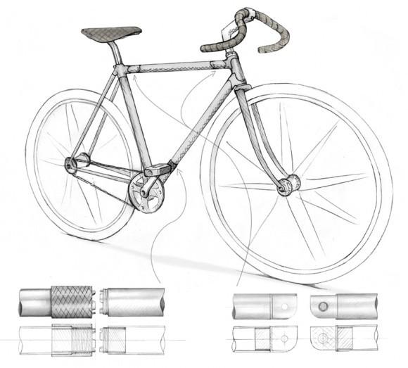 Складной велосипед от дизайнера Филиппа Крюэ