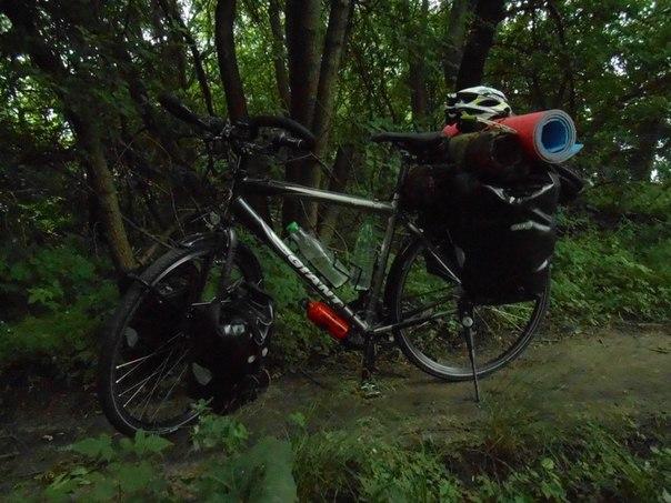 на велосипеде в Индию
