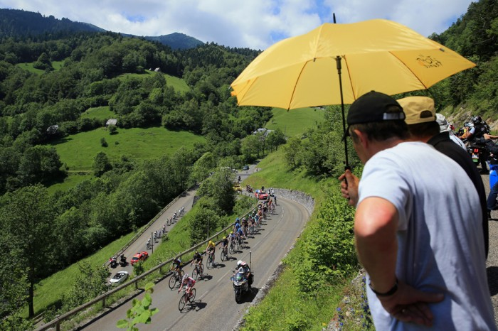 Тур дэ Франс Группа с желтой майкой