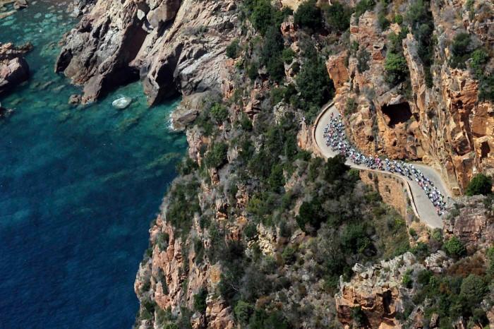 Тур дэ Франс Вид с воздуха