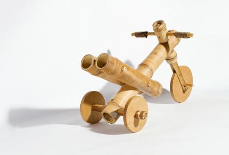 Бамбуковый трехколесный велосипед для ребенка