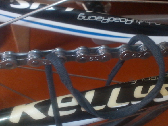 велосипедная цепь.