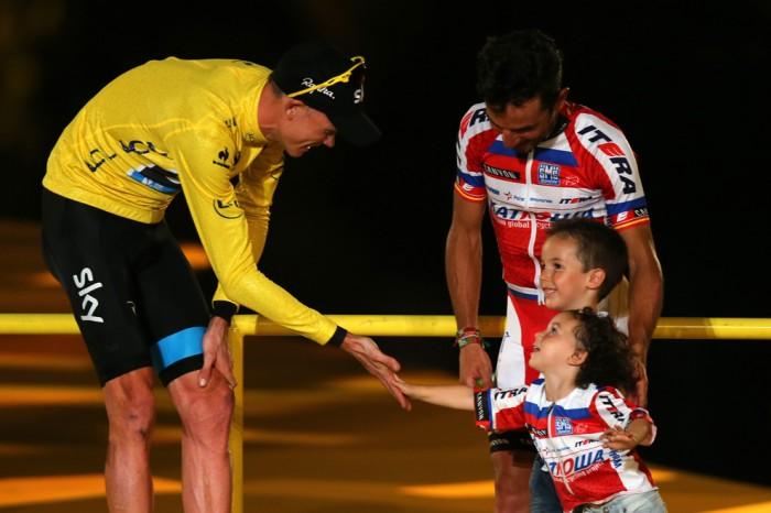 Победитель 2013-го Тур де Франс - Крис Фрум из Великобритании