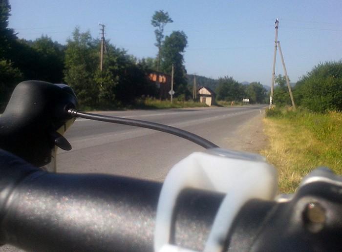 на велосипеде в Карпаты