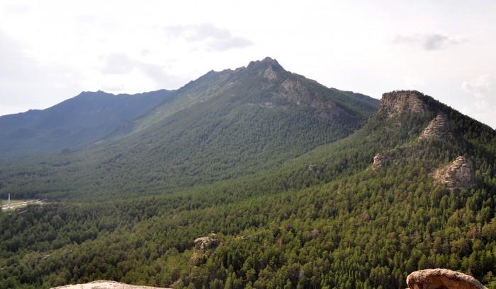 Это гора Кокшетау с видом со «слонёнка»