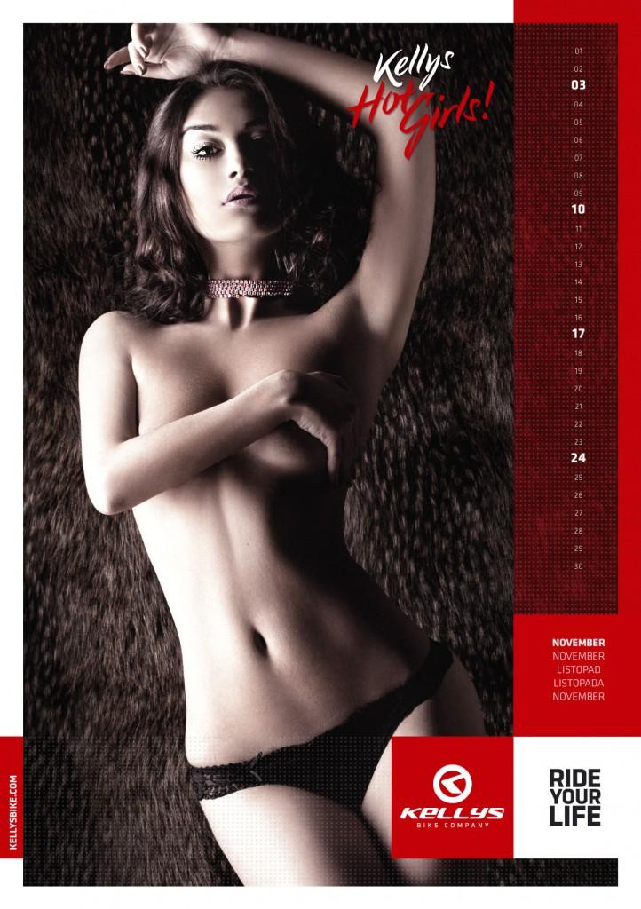 велосипедный календарь от Kellys