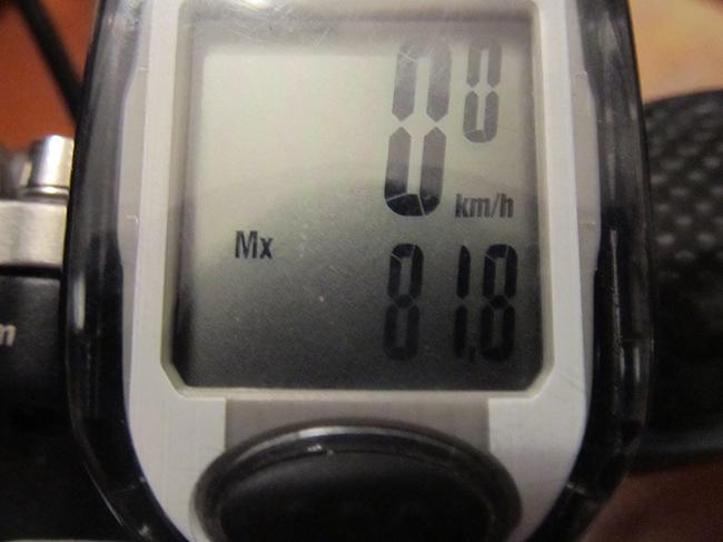 80 километров в час на велосипеде