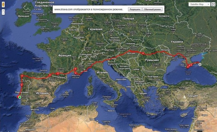 Страва. Дмитрий Пащенко. 6 000 километров по Европе на велосипеде