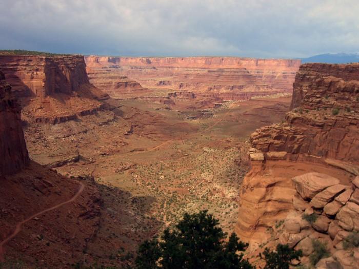 Дорога  Национальном Парке Каньонов , Штат Юта
