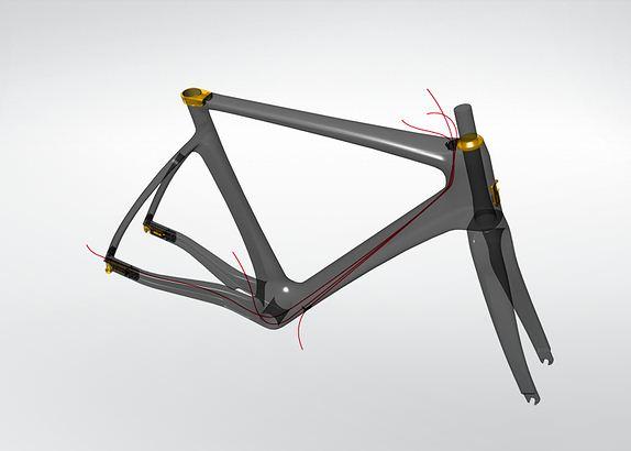 Велосипед Fabike проводка кабелей