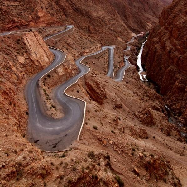 Дорога в ущелье Dadès, Марокко