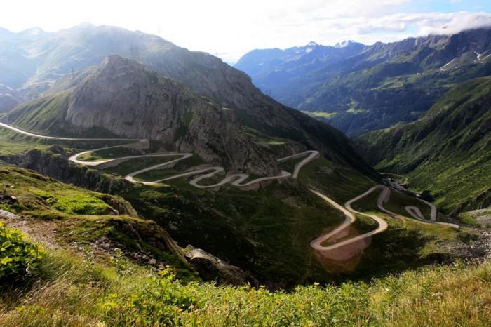 Gotthard Pass, Альпы, дорога из Италии в Швейцарию