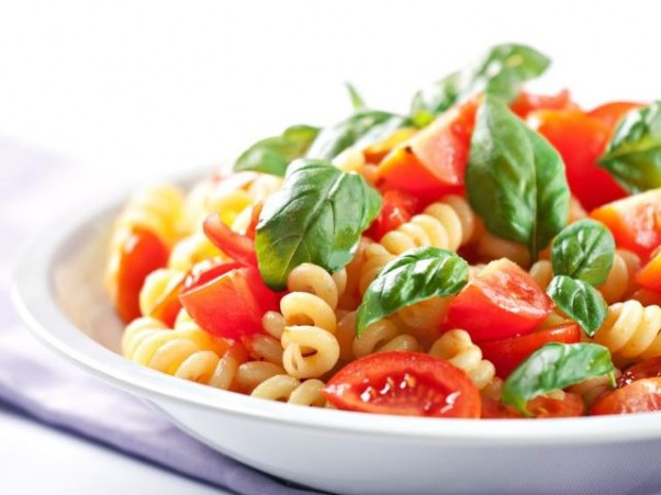 Pasta-with-Tomatoes-and-Basil-602x451