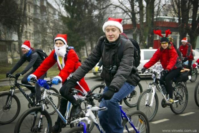 Велопарад Дедов Морозов в Виннице 2014. Фото Олейник Александр