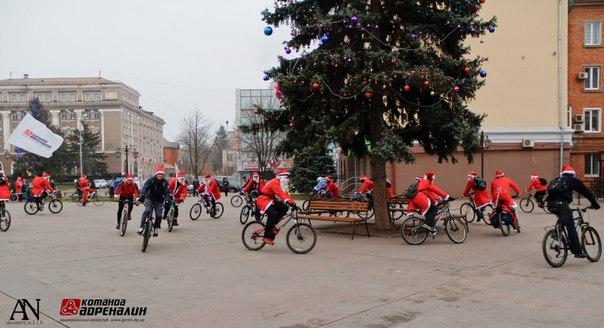 Велопробег Дедов Морозов!