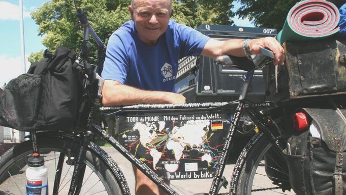 Heinz Stücke, 73, ist Radfahrer