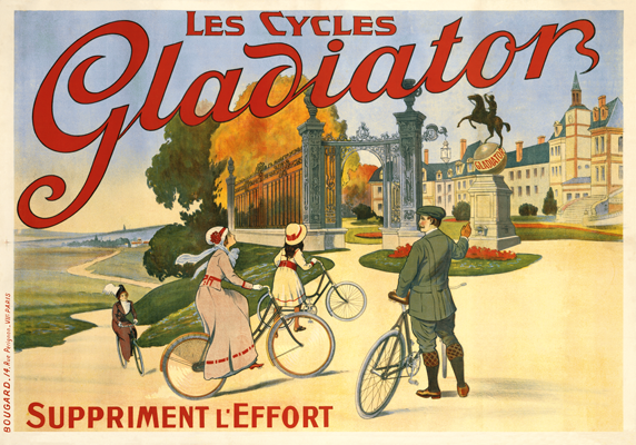 Реклама велосипедной марки Gladiator