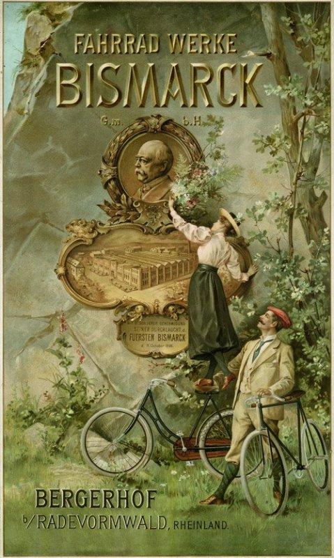 Реклама велосипедов фабрики Бисмарка