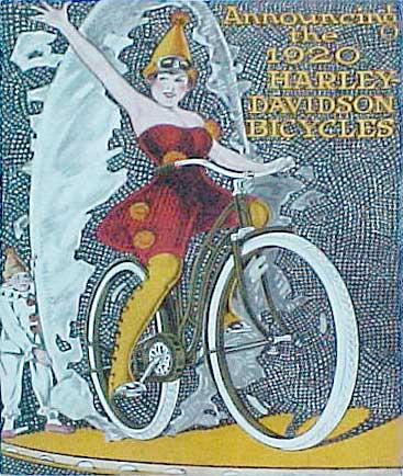 Велосипедная реклама Harley-Davidson