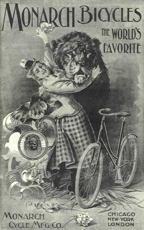 Велосипедная реклама monarch