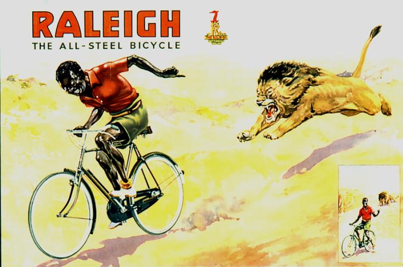 Велосипедная реклама Raleigh